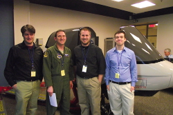 Photo - Winning team - Mississippi - with their test pilot