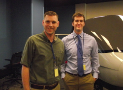 Photo - Josh Nieman with test pilot who flew his design