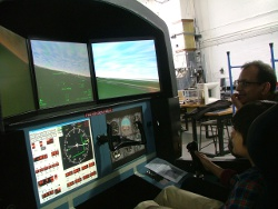 Photo - Zain Ameen in flight simulator